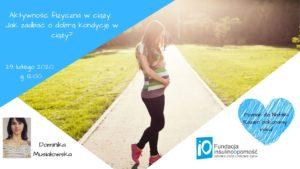 """Webinar """"Aktywność fizyczna w ciąży"""""""